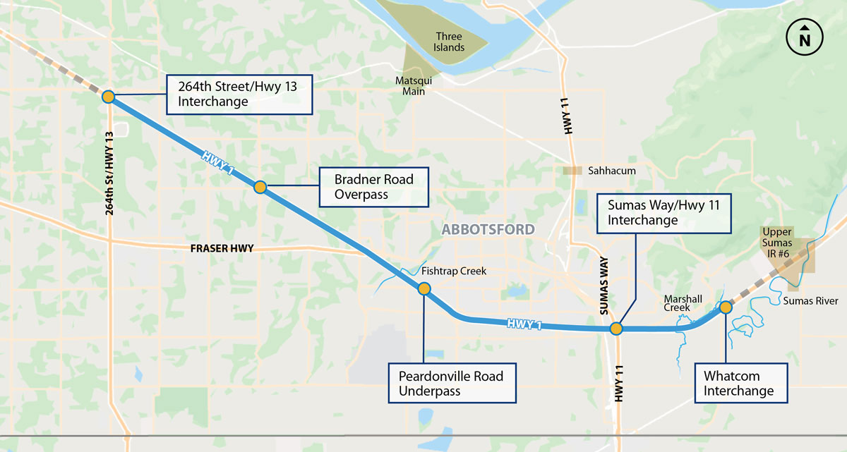Ministry of Transportation and Infrastructure: Highway 1 – 264 Street to Whatcom Road Public Engagement